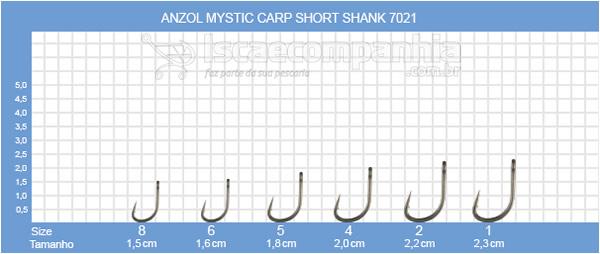 ANZOL VMC MYSTIC SHORT SHARK 7021NT- C/ 10 UN