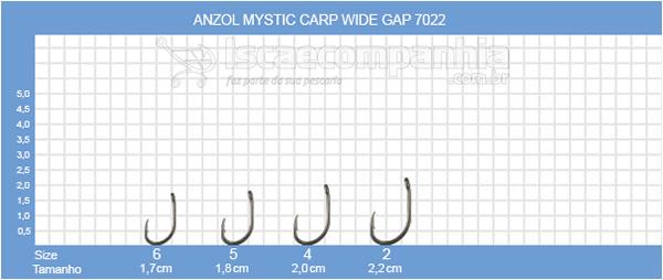 ANZOL VMC MYSTIC WIDE GAP 7022NT C/ 10 UN