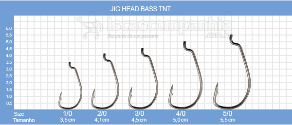 Anzol Black Jig Head Bass Offset TNT - 1/0 a 5/0 - 3unidades