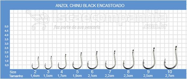 ANZOL CHINU BLACK ENCASTOADO