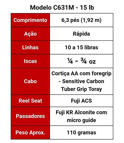 54d479633 VARA RED MOON MONSTER 3X C631M 10-15LB 6`3 (1