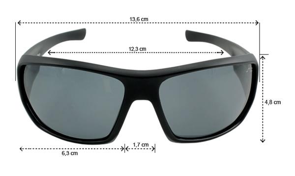 Óculos Polarizado Saint Plus Matte - Black e Brown
