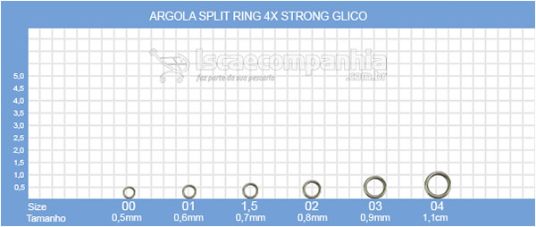 SPLIT RING GLICO 4X STRONG - Argola