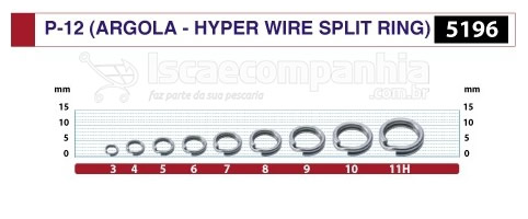 ARGOLA HYPER WIRE SPLIT RING P-12 5196