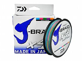 Linha Multifilamento Daiwa J-Braid X4U 30Lbs 0,25mm 300Mts - Multi Cores