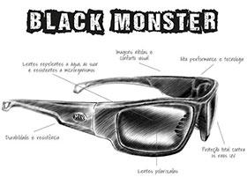 ÓCULOS BLACK MONSTER HIDROFÓBICO C  LENTE BROWN BY JOEL DATENA ... 2d2b7b0333