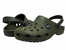 Crocs Babuche Mar Negro Fishing Anti Derrapante - Musgo