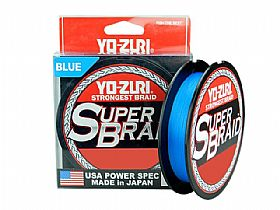 Linha Yo-Zuri Super Braid 65lbs 0,41mm 275mts - Blue
