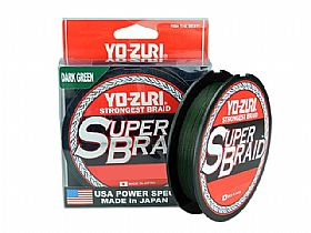 Linha Yo-Zuri Super Braid 20lbs 0,23mm 275mts - Dark Green