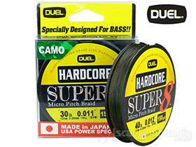 LINHA DUEL HARDCORE SUPER 8 MICRO PITCH BRAID 30LBS 0.28MM 135MTS