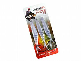 Isca Monster 3X M-Action Soft Bait 15cm 12gr - 3 Iscas + 1 Anzol EWG
