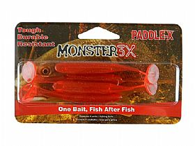 Isca Monster 3X Shad Paddle-X Soft Bait - 9,5cm