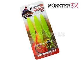 ISCA MONSTER 3X M-ACTION SOFT BAIT 15cm -  3 iscas + 1 Anzol EWG