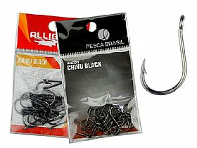 Anzol Chinu Black Alligator Pesca Brasil
